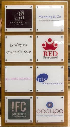Full Colour Acrylic Glass Name Plates| The Sign Maker Shop